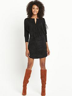 definitions-suedette-fringe-dress