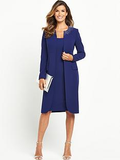 definitions-embellished-neckline-coat-suit