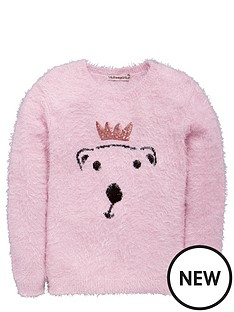 freespirit-girls-sequin-polar-bear-eyelash-jumper