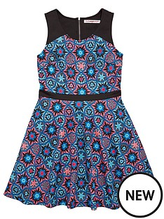 freespirit-girls-scuba-panelled-skater-dress