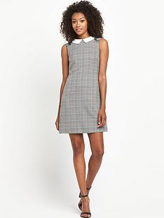 south-collared-houndstoothnbspshift-dress