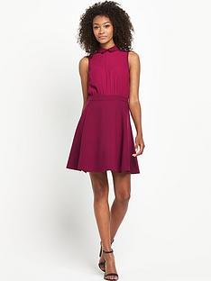 south-petite-collared-chiffon-skater-dress