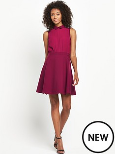 south-tall-collared-chiffon-skater-dress