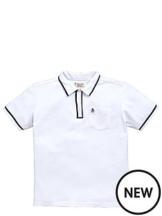 penguin-penguin-tipped-polo-white