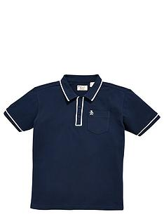 penguin-penguin-tipped-polo-navy