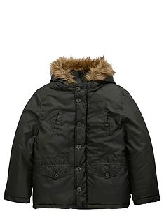 penguin-boys-parka-with-fauxnbspfur-trim-hood