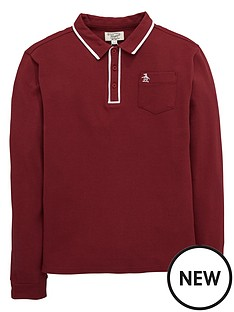 penguin-penguin-ls-tipped-polo