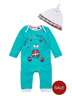 ladybird-baby-boys-bear-hugs-romper-and-hat-set-2-piece