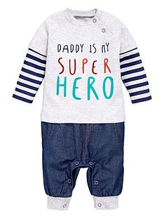 ladybird-baby-boys-romper-with-mock-tee
