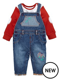 ladybird-baby-boys-denim-dungaree-and-tee