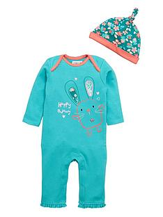 ladybird-baby-girls-bunny-romper-and-hat-set-2-piece