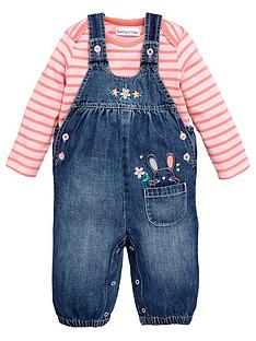ladybird-baby-girls-denim-dungaree-amp-tee-set