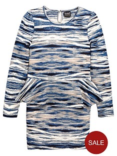name-it-girls-printed-peplum-dress