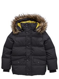 name-it-fauxnbspfur-hooded-jacket-grey