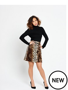 myleene-klass-high-waisted-animal-fur-skirt-with-skinny-belt