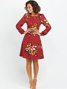 myleene-klass-floral-long-sleeve-dress