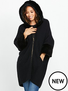 myleene-klass-hooded-faux-fur-cuff-zip-through-cardigan