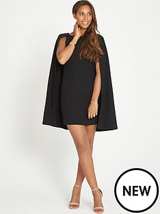 rochelle-humes-cape-mini-dress