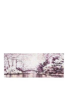 Graham & Brown Graham & Brown Watercolour Forest Bridge Canvas Picture