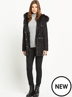 south-luxe-wool-mix-faux-fur-parka