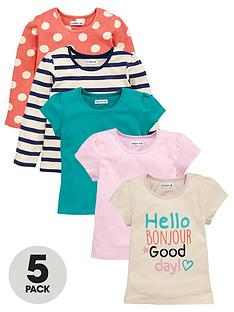 ladybird-girls-hello-bonjournbspt-shirts-1-7-years-5-pack
