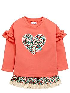 ladybird-toddler-girls-loopback-floral-heart-frill-tunic-1-7-years