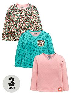 ladybird-girls-pointellenbspand-floral-long-sleeve-t-shirts-3-pack-12-months-7-years
