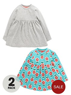ladybird-girls-jersey-flower-and-marl-tunic-tops-2-pack-12-months-7-years