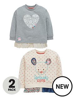 ladybird-girls-mouse-and-heart-appliquenbspsweaters-2-pack-12-months-7-years