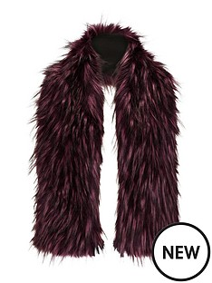 tipped-fur-faux-fur-collar-purple