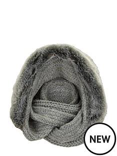 faux-fur-hooded-snood-grey