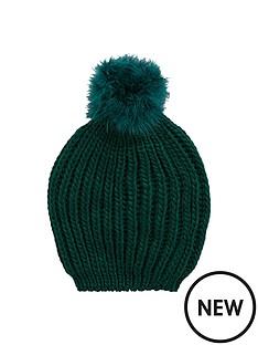 feather-pom-pom-beanie-emerald