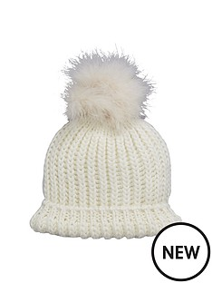 feather-pom-pom-beanie-cream