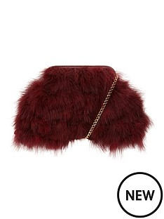 fluffy-feather-shoulderclutch-bag
