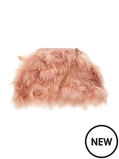 fluffy-feather-shoulderclutch-bagnbsp