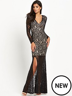 forever-unique-kelsieampnbsplace-v-neck-maxi-dress