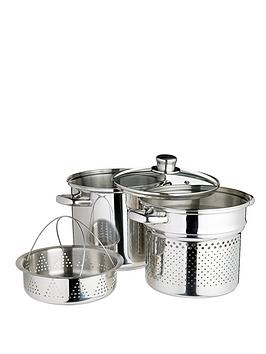 world-of-flavours-italian-pasta-pot-with-steamer-insert