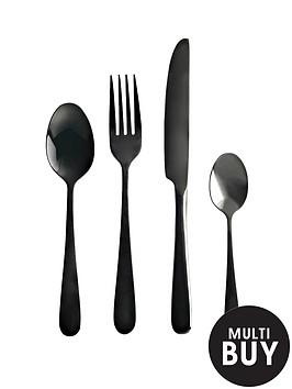 viners-black-titanium-16-piece-cutlery-set