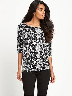 definitions-print-definitions-34-sleeve-drape-bk-top