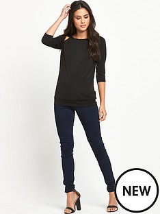 definitions-definitions-34-sleeve-drape-bk-top