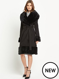 south-faux-fur-hem-wrap-coat