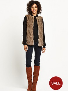 south-short-faux-fur-giletnbsp