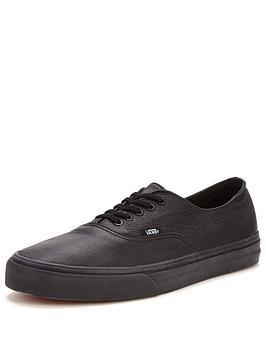 Vans Authentic Decon Leather Trainers  Black