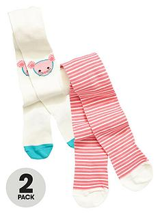 ladybird-girls-pretty-mouse-and-stripe-tights-2-pack