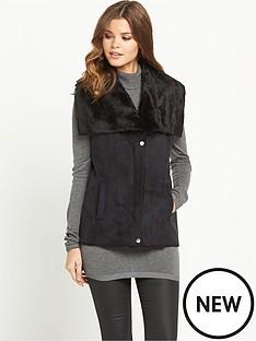 south-faux-shearling-gilet