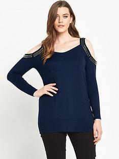 so-fabulous-embellished-cold-shoulder-jumper