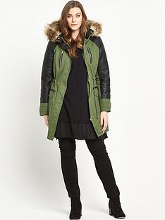 so-fabulous-pu-sleeve-faux-fur-trim-parka