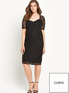 v-by-very-curve-sweetheart-neck-half-sleeve-lace-midi-dress