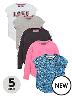 freespirit-girls-fashion-basic-long-and-short-sleeve-t-shirts-5-pack