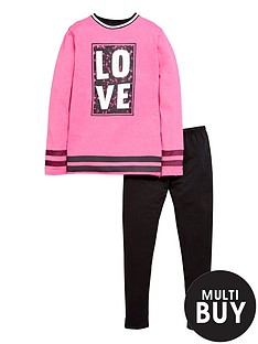 freespirit-girls-fashion-basic-slogan-sweater-and-leggings-2-piece-set